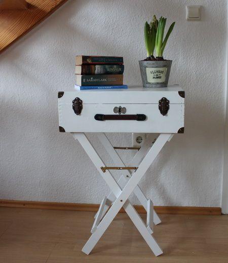 Diy Koffer Tisch Aus Alter Kiste Gebaut Alte Koffer Alte Truhe