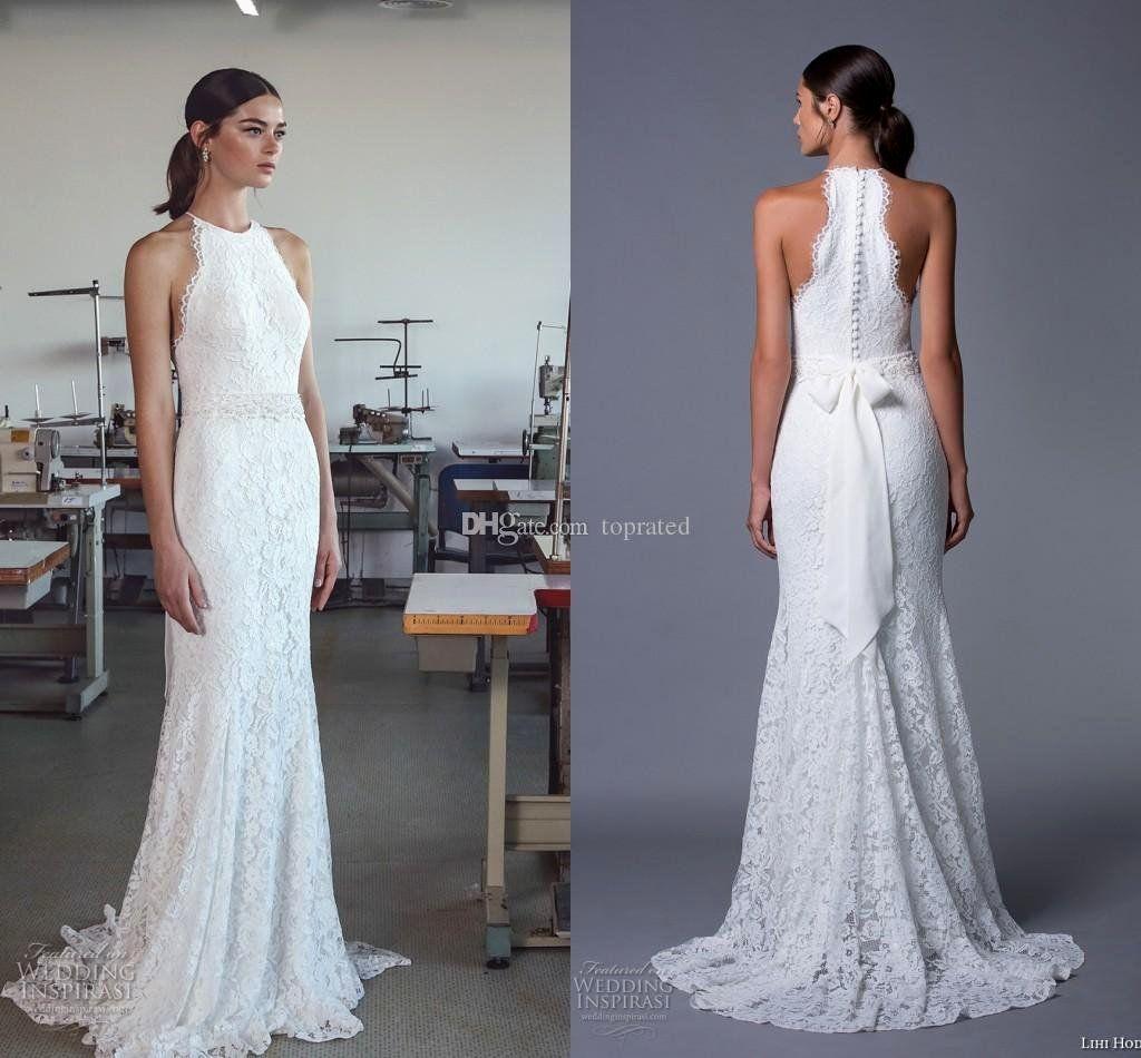 Lace Halter Neck Wedding Dress Fresh Halter Top Wedding Gown Unique Vintage Full Lace Country Halter Wedding Dress Bow Wedding Dress Halter Wedding Dress Lace [ 950 x 1024 Pixel ]