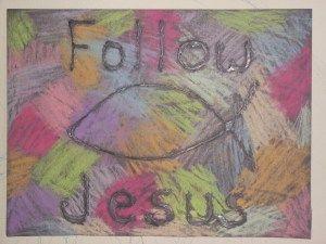 follow jesus chalk craft
