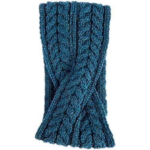 Aran woollen mills super soft merino wool crossover headband irish sea colour #irishsea Aran woollen mills super soft merino wool crossover headband irish sea colour #irishsea