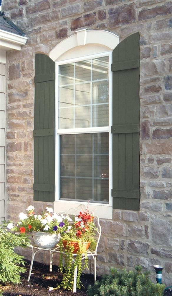 Arched Window Shutters Exterior