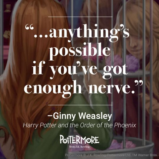 From shy young girl to queen of the Quidditch pitch, she's brave and bold with an indomitable spirit. Happy birthday Ginny Weasley – celebrate with us today and share your favourite Ginny quote. - Pottermore