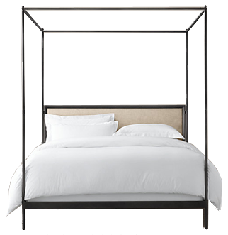 Iron Four Poster Bed 19th c. french iron canopy bed | queen | iron canopy bed, canopy