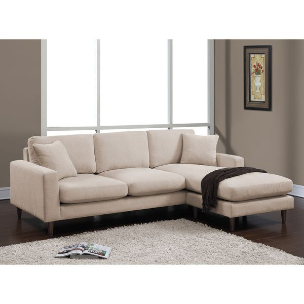 Shaffer Buff Fabric Two-piece Sectional Sofa - Overstock ...