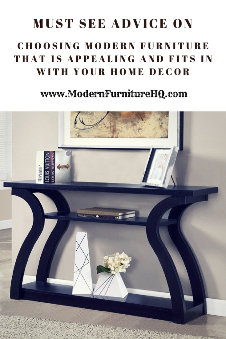 See these ideas on choosing the best modern furniture to fit in with