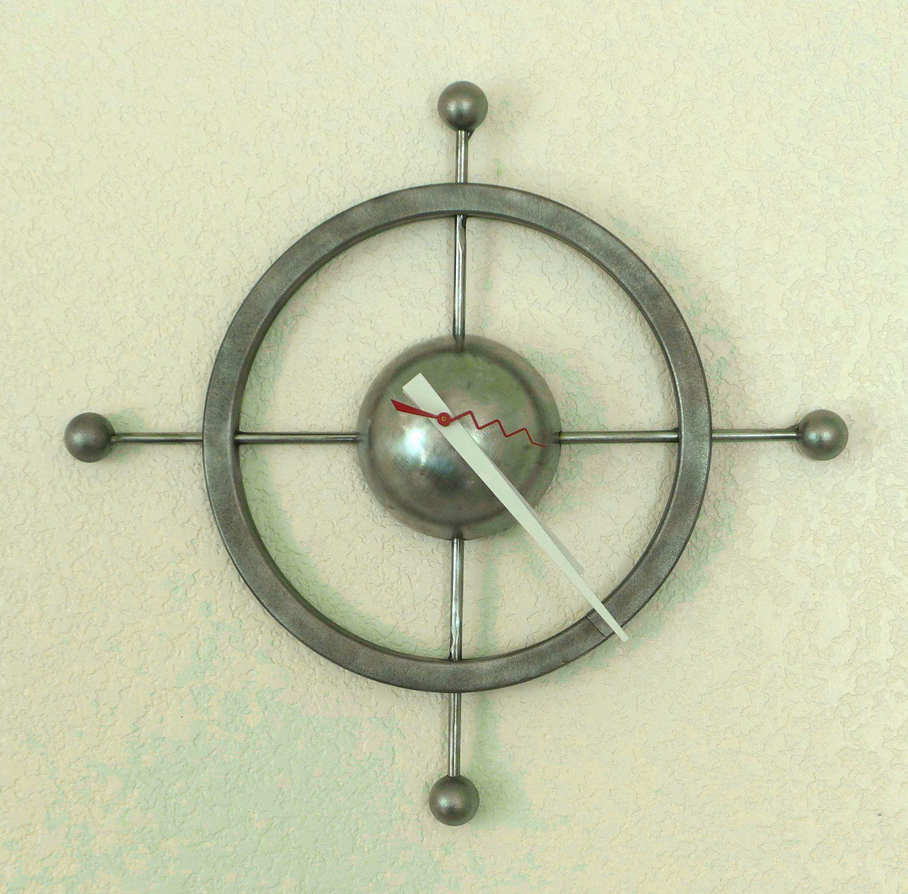 Orbit Handmade Wall Clock Metal Machine Age Steampunk Modern Design Pop Art Sculpture With Images Metal Wall Clock Original Art For Sale Clock
