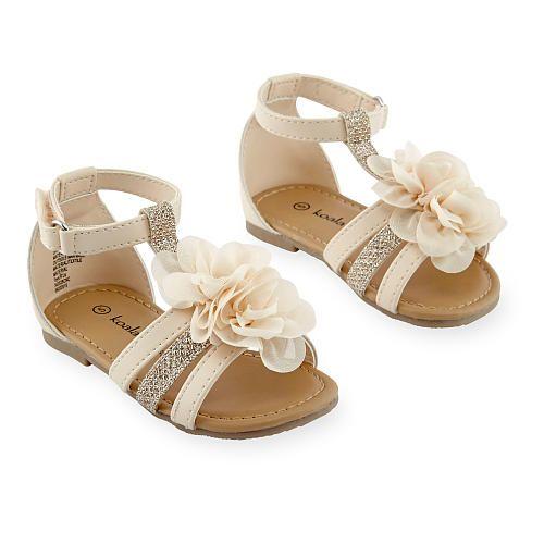 Koala Kids Girls Hard Sole Floral Double Strap Sandal Babies R Us Zapatos Para Ninas Zapatos