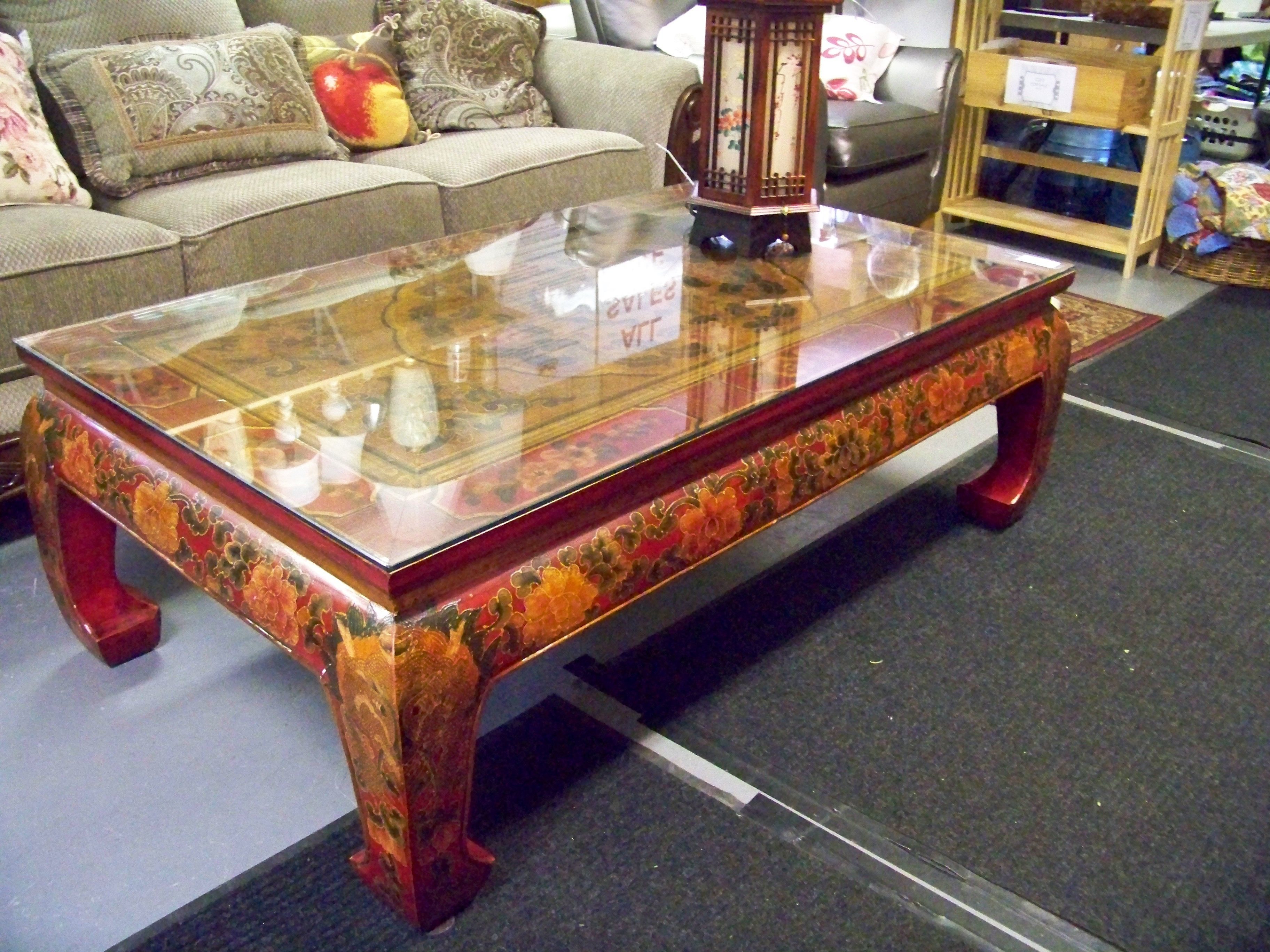 Sold antique south korea hand painted coffee table www antique south korea hand painted coffee table chconsignment geotapseo Image collections