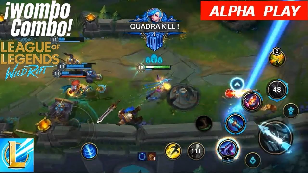 Jinx Adc Wild Rift Jinx Bot Gameplay Lol Mobile Alpha League Of Le League Of Legends Rift Gameplay