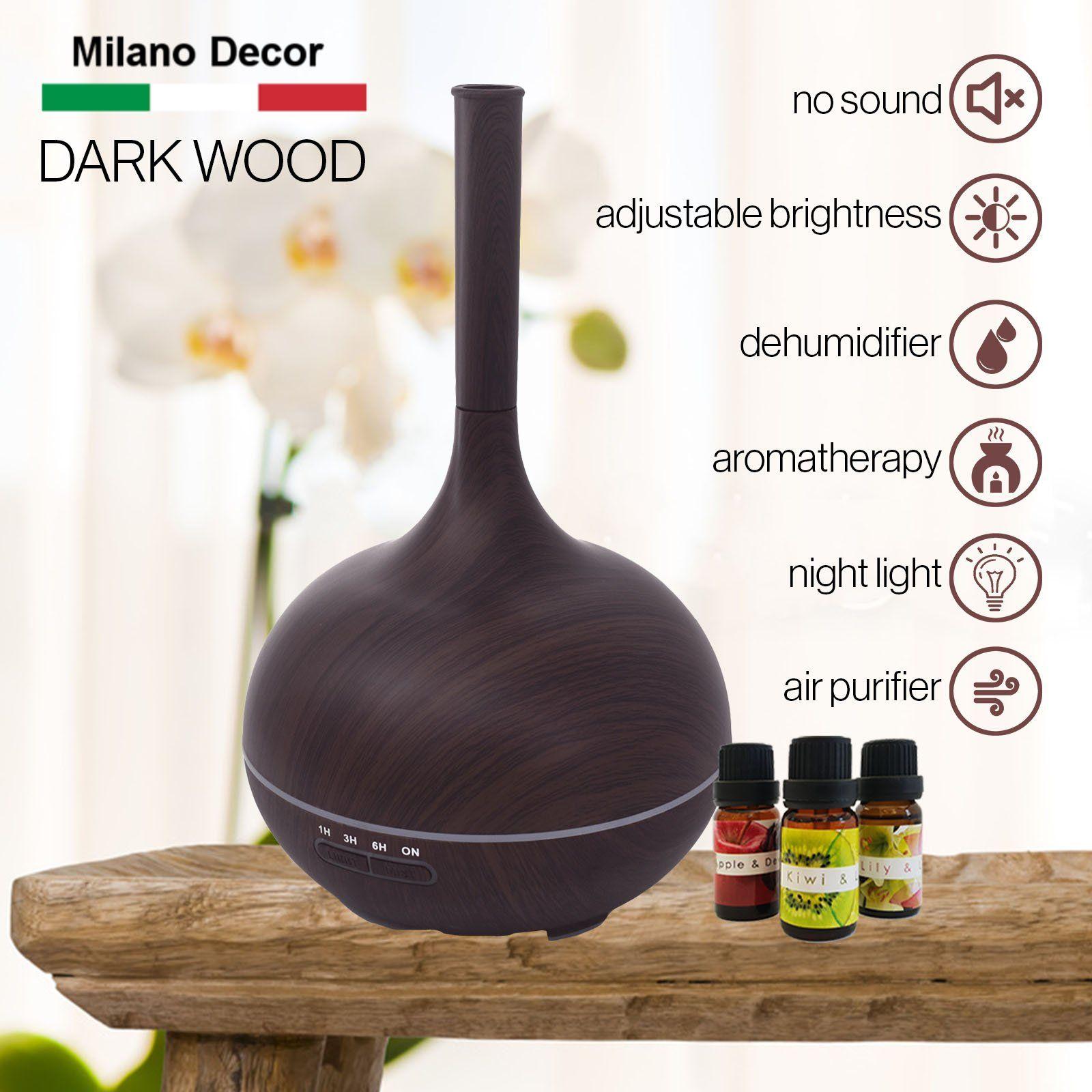 Milano Supreme Ultrasonic 400ml Aromatherapy Humidifier