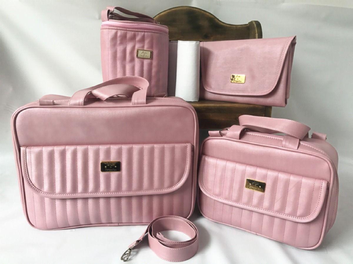 Resultado de imagem para bolsas maternidade rosa goiaba