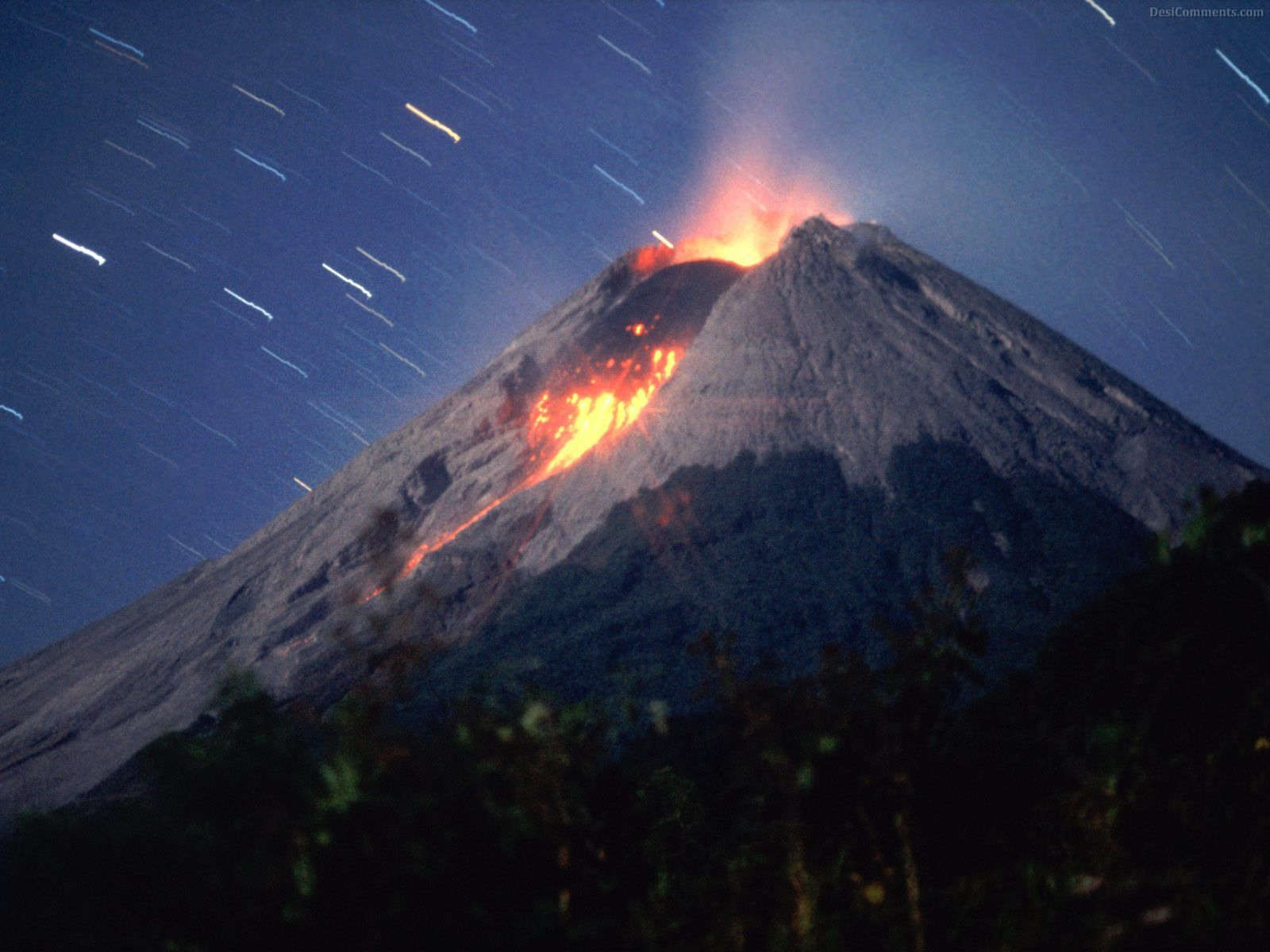 See A Volcano Eruptfrom A Safe Distance Of Course Bucket List - Incredible neon blue lava flames erupt volcano