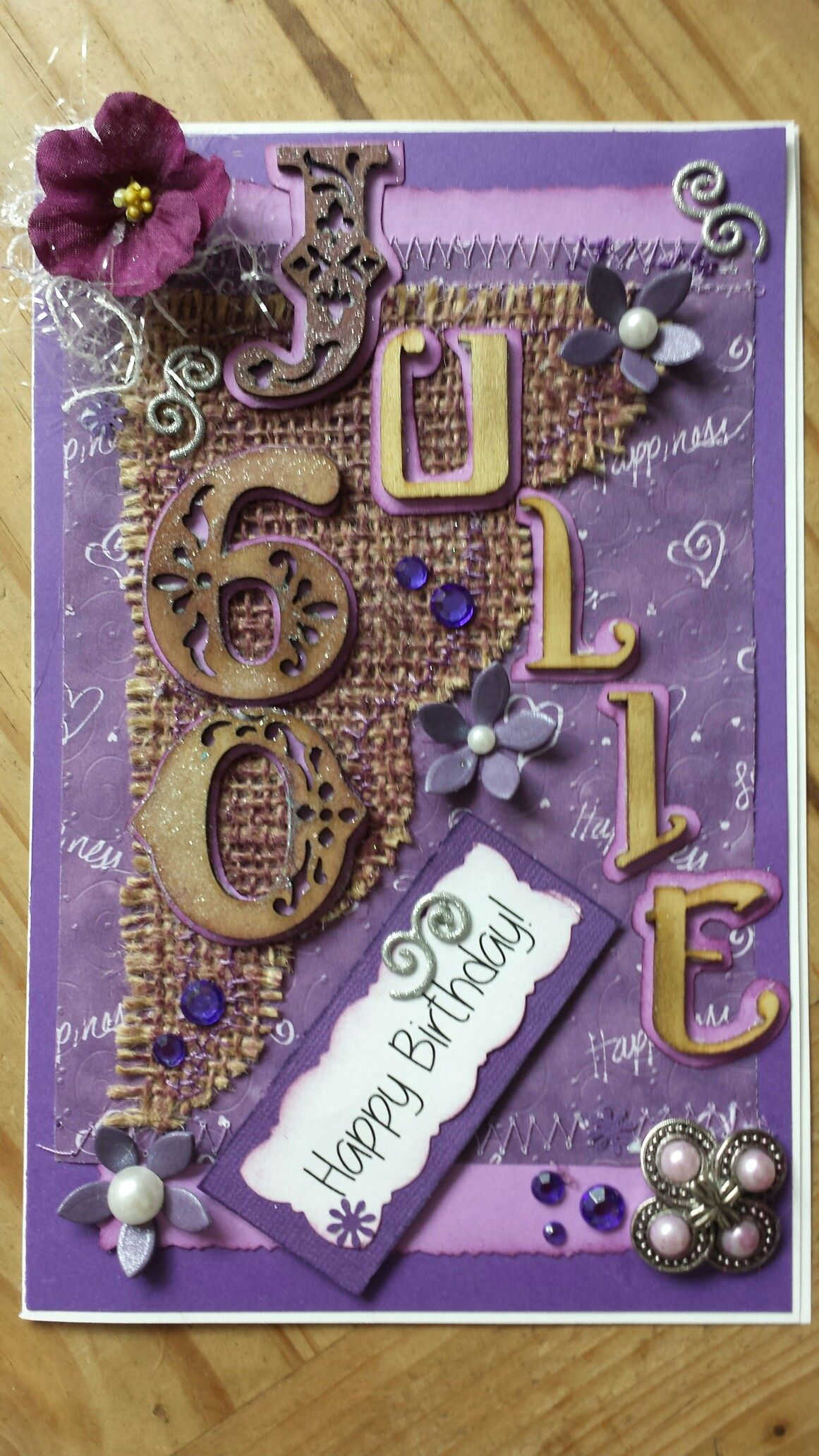 60th birthday card for her handmade birthday cards