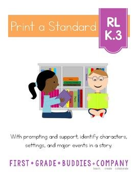 Story Elements | RL K 3 | No Prep Tasks for Instruction and