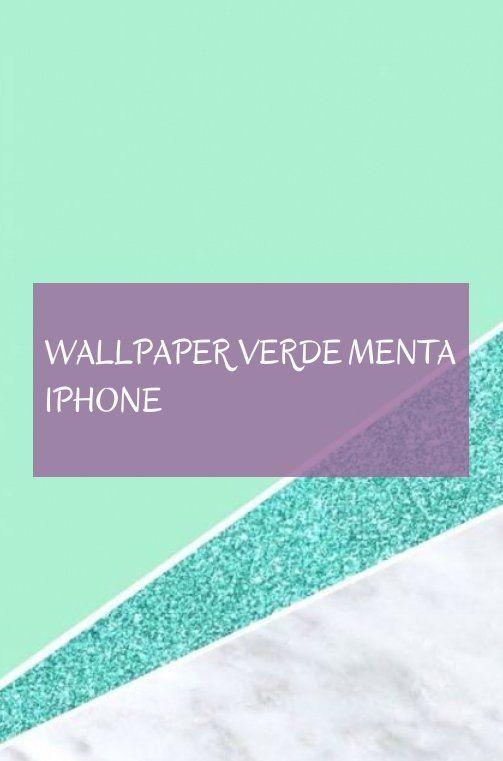 wallpaper verde menta iphone