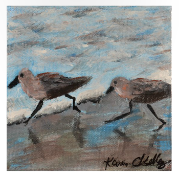 Plovers in the Full Sail art show.