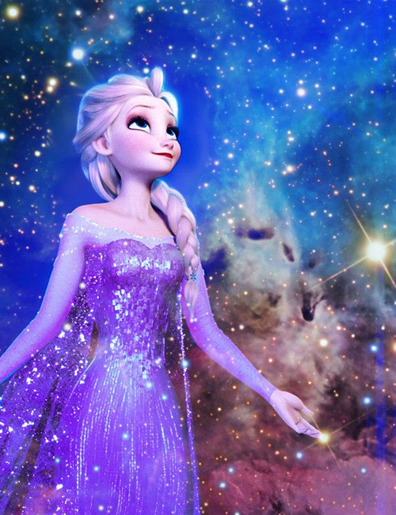 Cartoon 5D DIY Diamond Painting Kit Full Square/Round Drill Frozen Elsa Princess Cross Stitch Kits D