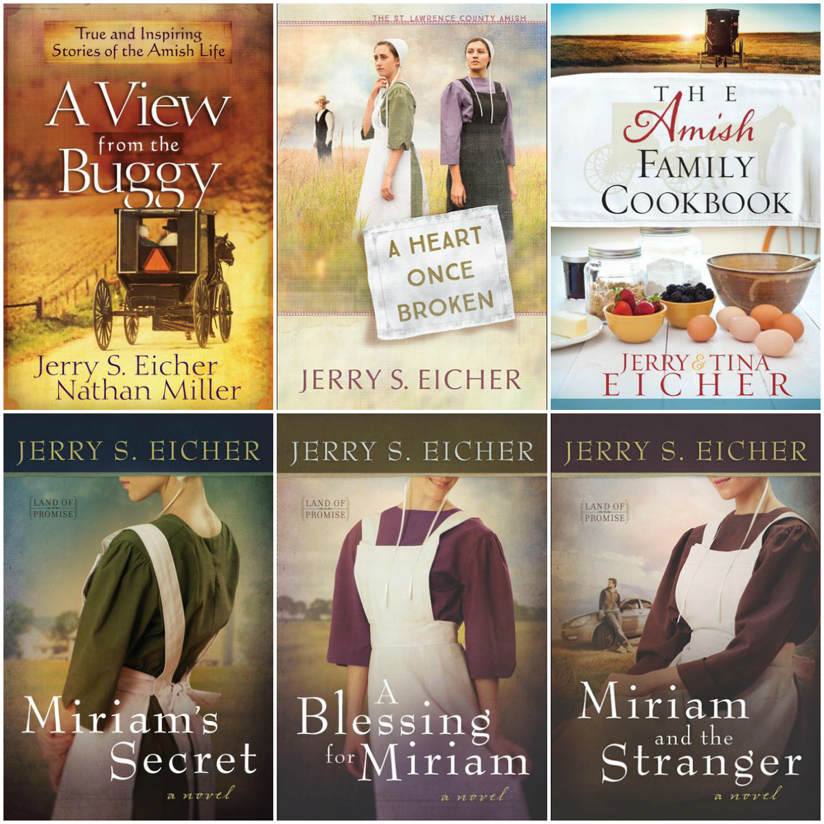 Get the real deal on Amish life, love, and food with this giveaway of 6  #JerryEicher books! One winner will receive all 6 books pictured.