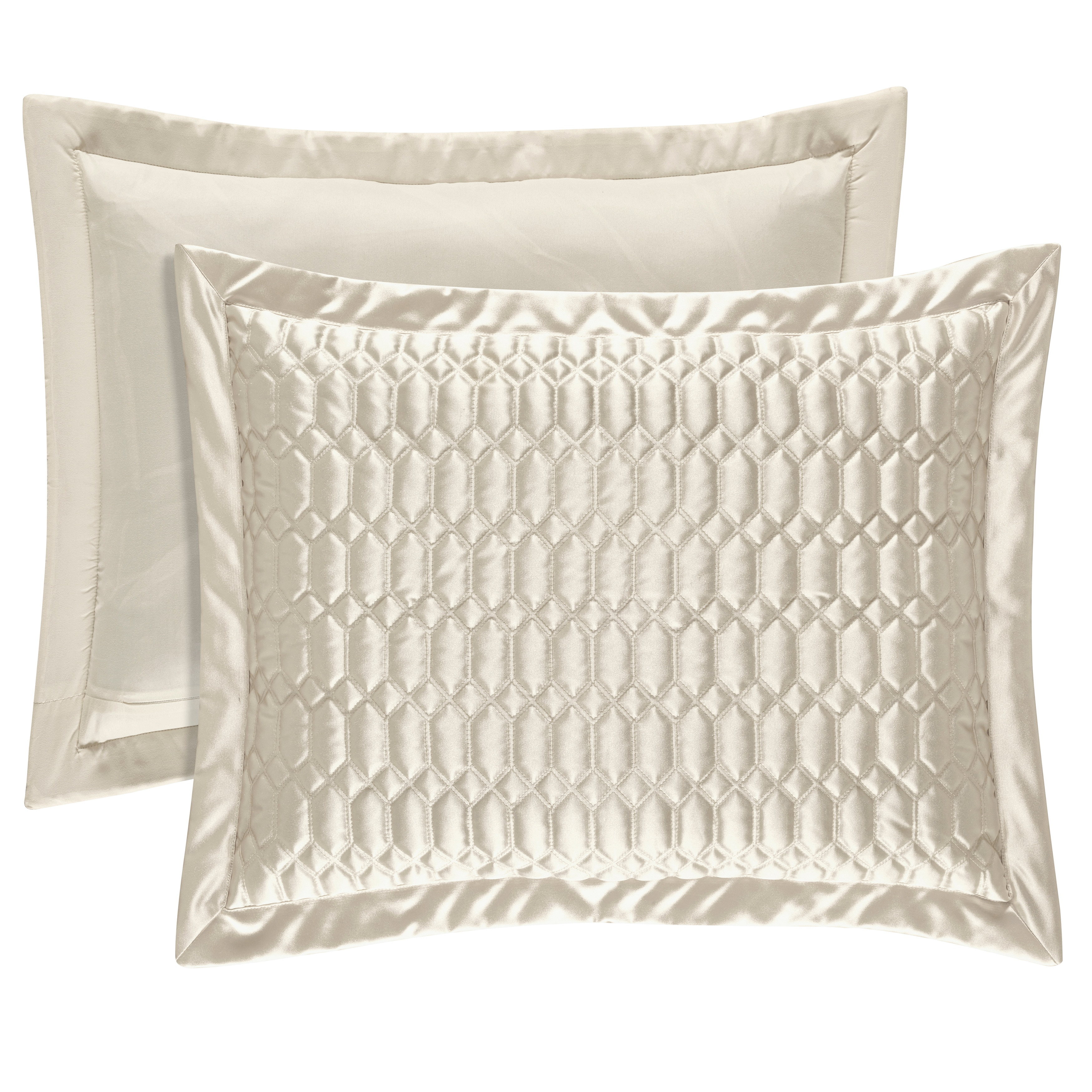 Five Queens Court Saranda Quilted Sham King Size In Silver As Is Item Silver King Sham Pillow Shams Queens New York Quilted Pillow Shams