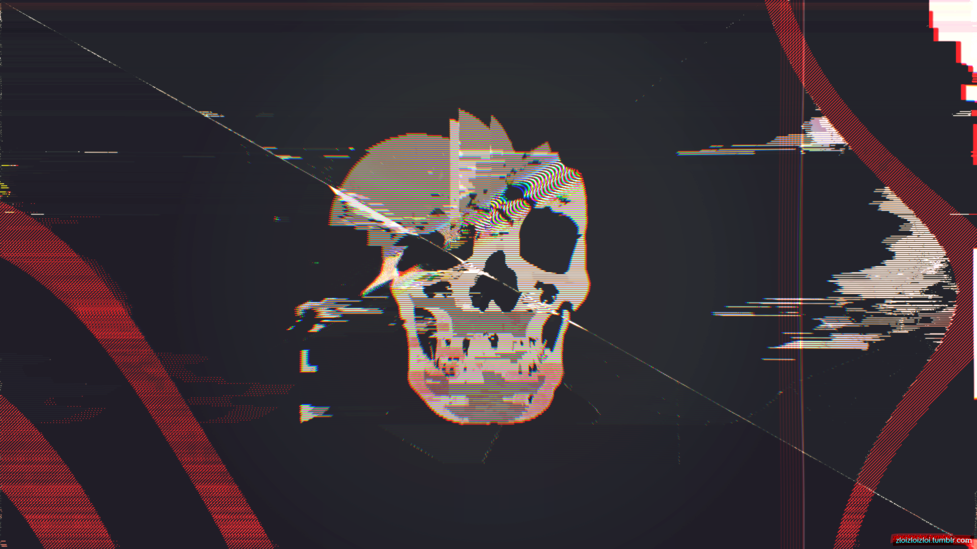 Glitch Skull Abstract (1920x1080) | Reddit HD Wallpapers ...