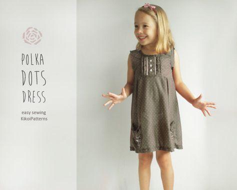 Kikoi Girls dress sewing pattern - free pattern   sewing   Pinterest ...