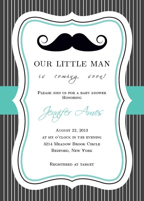 Little Man Baby Shower Invitation Baby Shower Pinterest Fonts