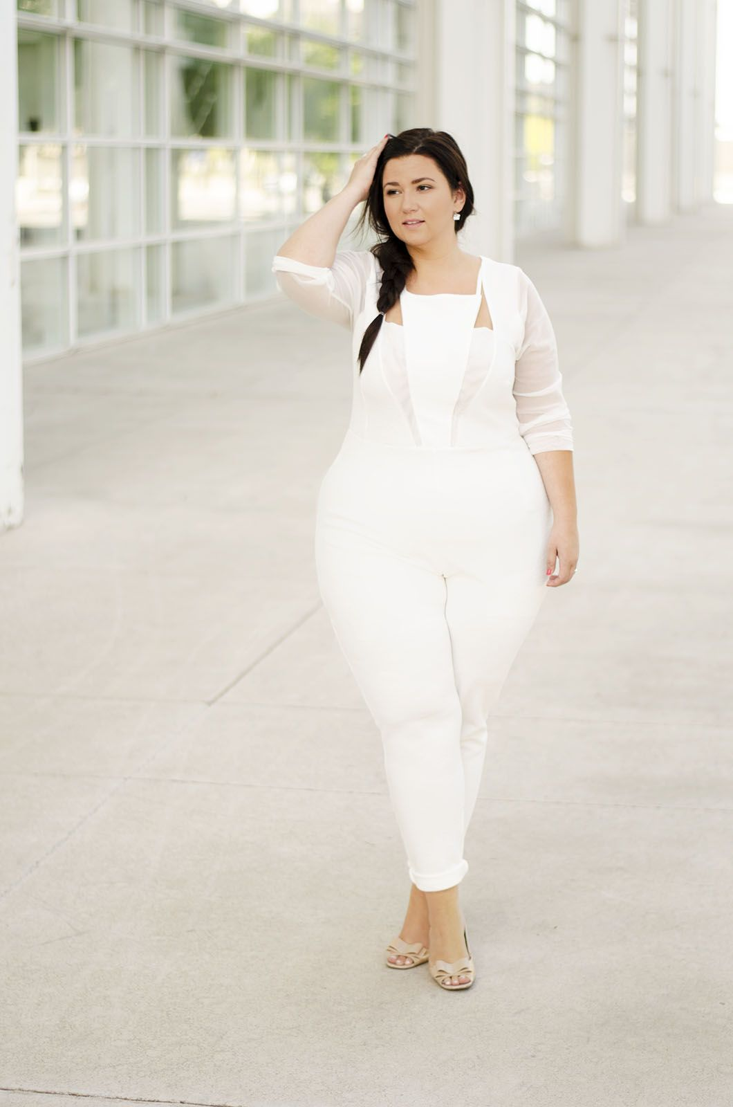 ee28ac0e3a8 plus size jumpsuit white jumpsuit plus size bride plus size wedding crystal  coons sometimes glam