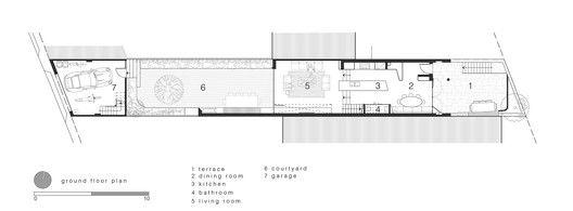 Bougainvillea Row House,Ground Floor Plan