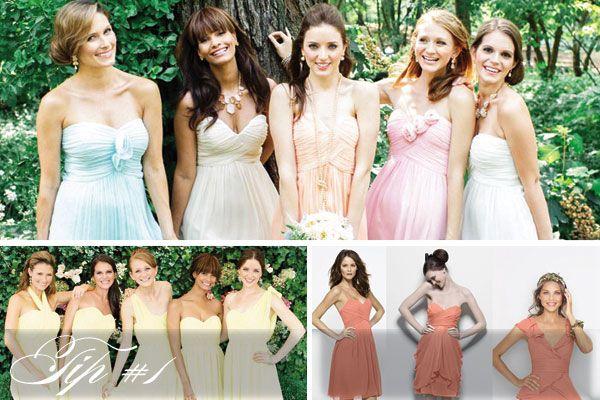 Mismatched Bridesmaids: Tips to Get the Look from Weddington Way - Weddingstar Blog