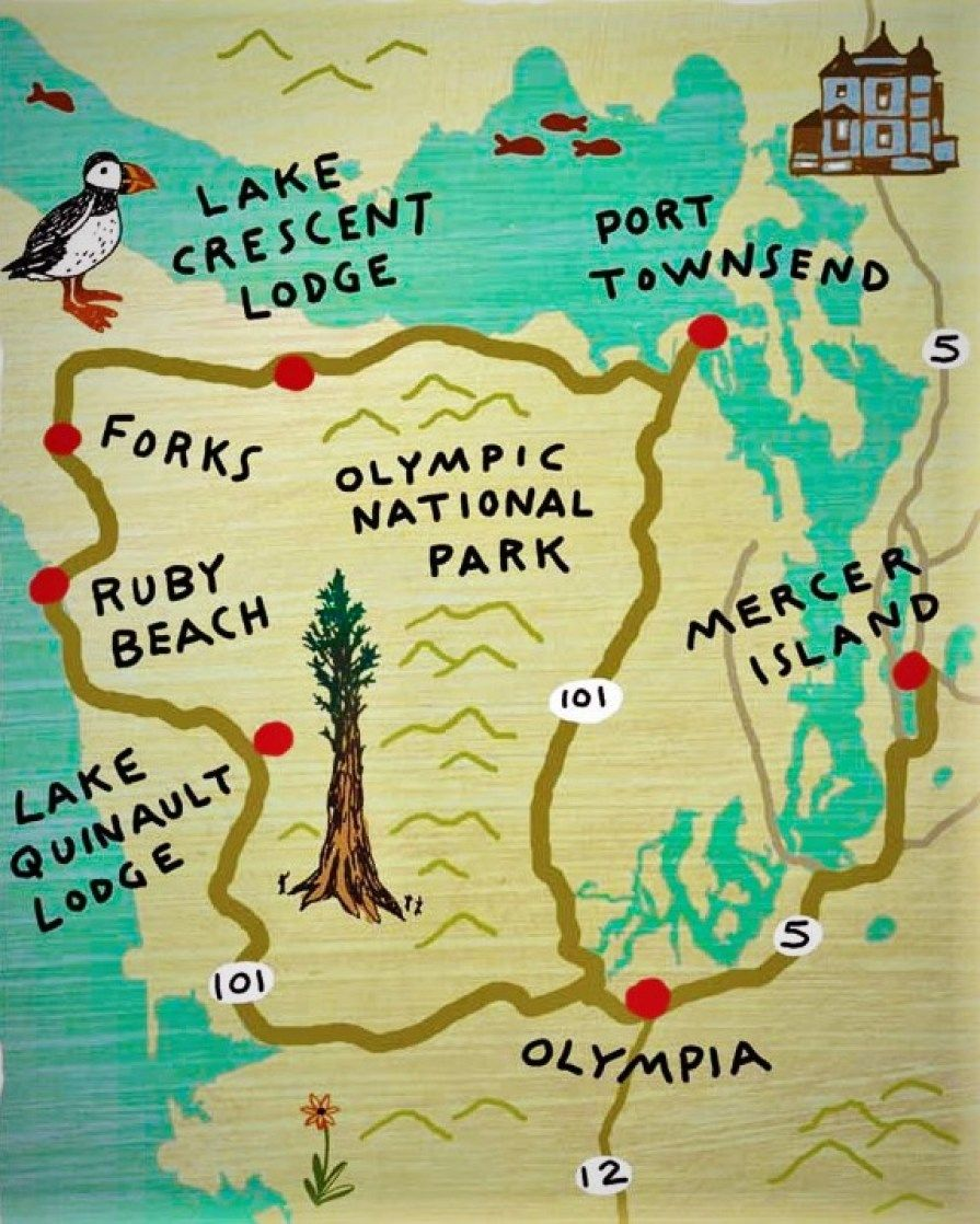 Domaine Madeleine A Perfect Olympic Peninsula BnB For Family - Map washington state peninsula