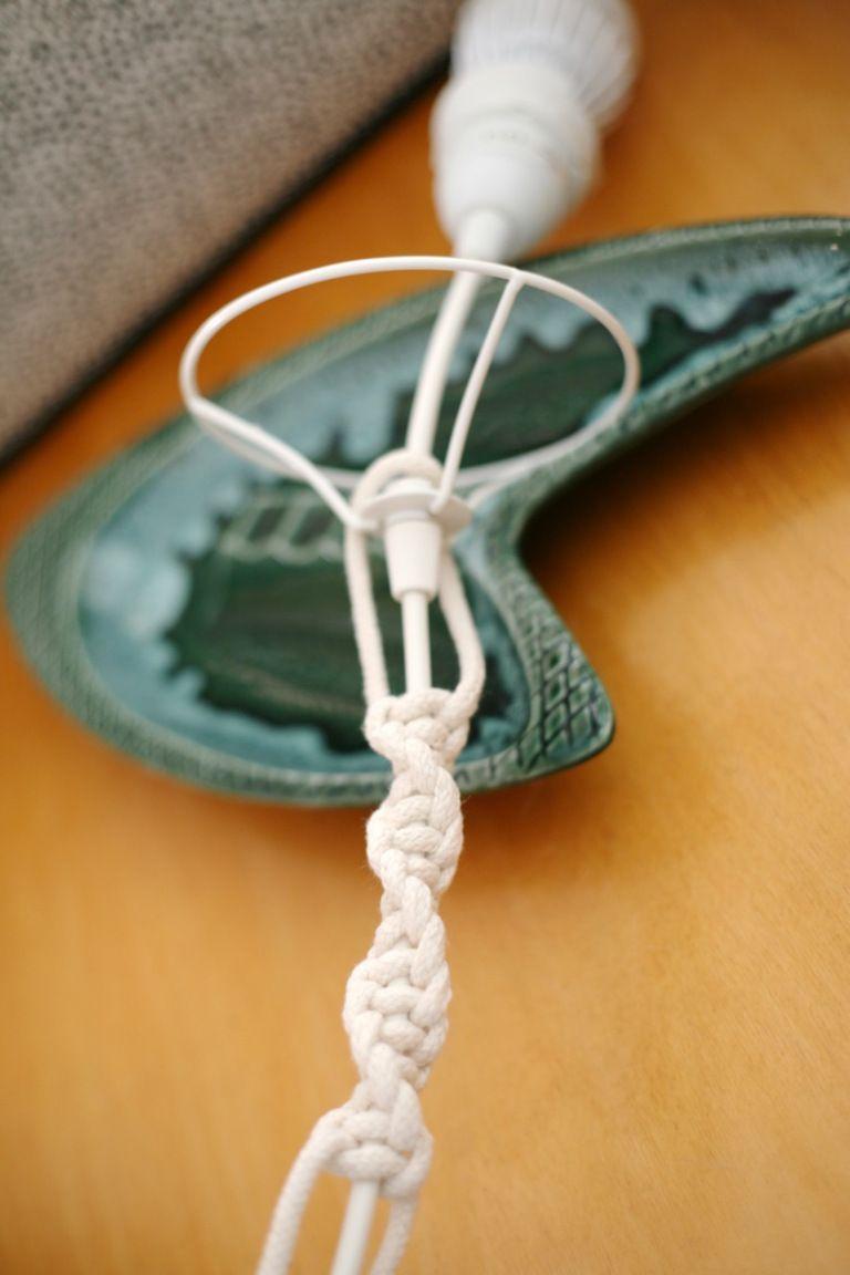 Macrame Pendant Lamp Cord DIY