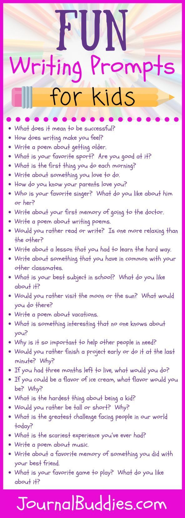 look at these fun writing prompts!   kids   pinterest   educacion