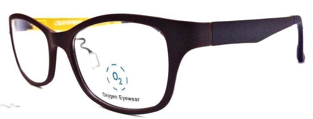 0fdeb5a031 OXYGEN Eyewear 6023 BROWN   YELLOW Unisex Prescription Glasses frames NEW  Only 1  OXYGENEYEWEAR
