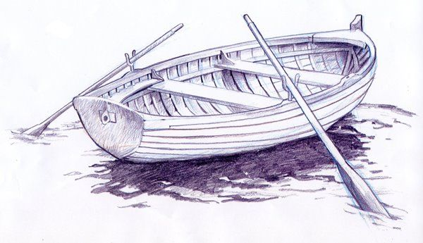 лодка картинка карандашом нюансы, как добратьс