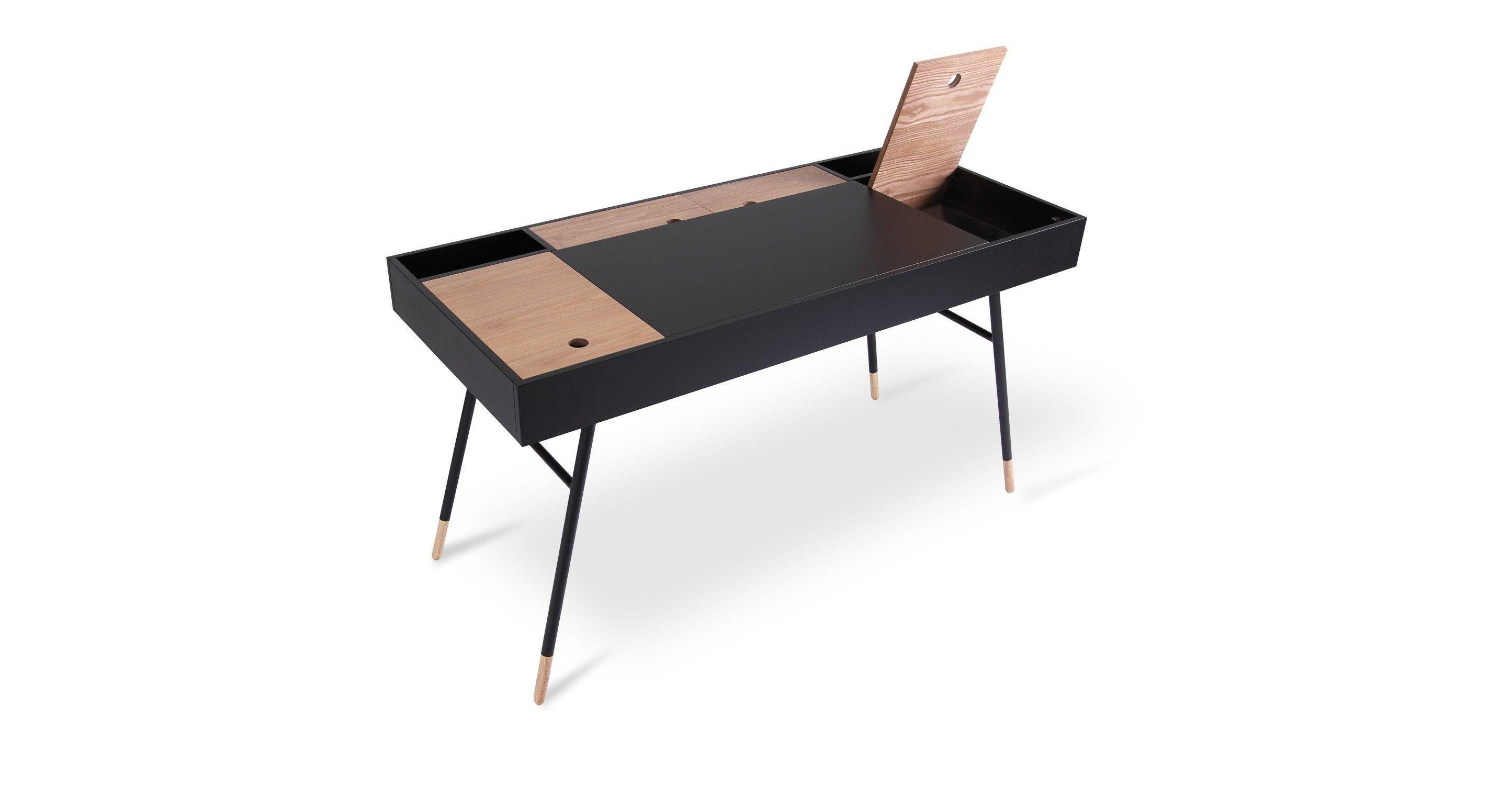 Beau Morse Black Desk   Tables   Bryght | Modern, Mid Century And Scandinavian  Furniture