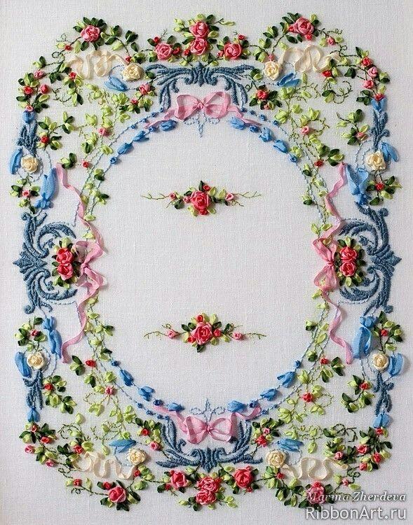 Pin By Liza Dinata On Ribbon Work Pinterest Embroidery Ribbon
