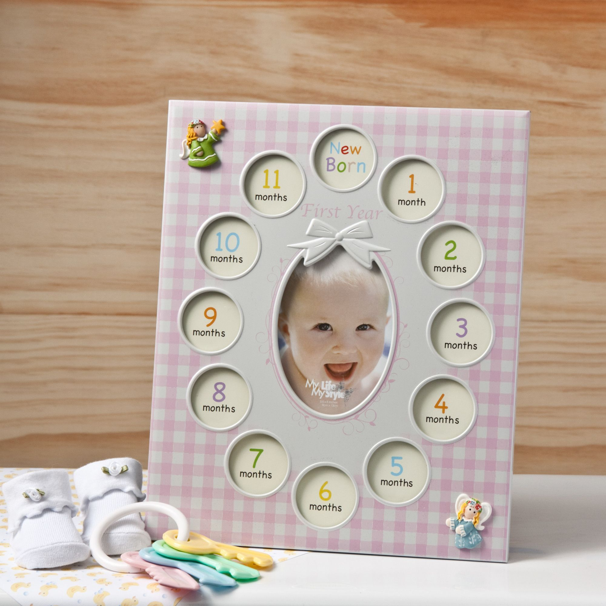 b018fbe788a8 Baby Girls First Year Collage Picture Frame