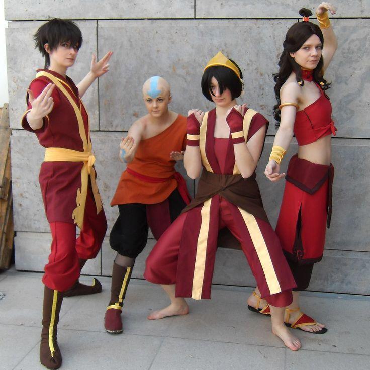 Zuko, Aang, Toph, and Katara... FIRENATION style