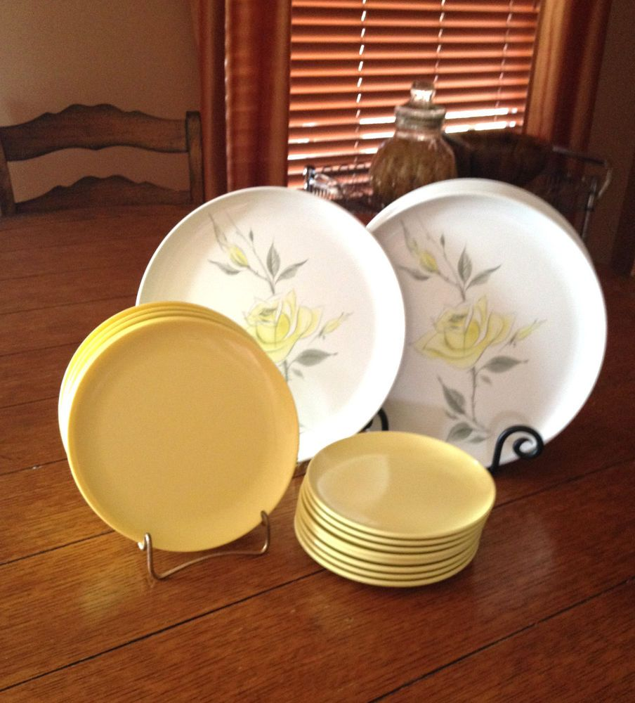 Retro 60-70\u0027s Debonair+Windsor Yellow Melmac Dinnerware - & PRICE CHANGED! Retro 60-70\u0027s Debonair+Windsor Yellow Melmac ...