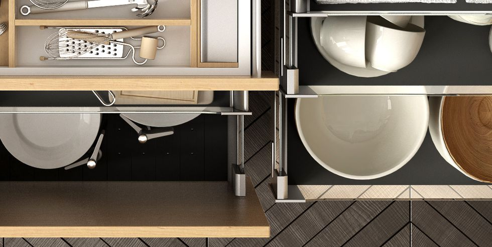 this brilliant little setup will keep all your counters cord free kitchen drawer organization on kitchen interior top view id=70916