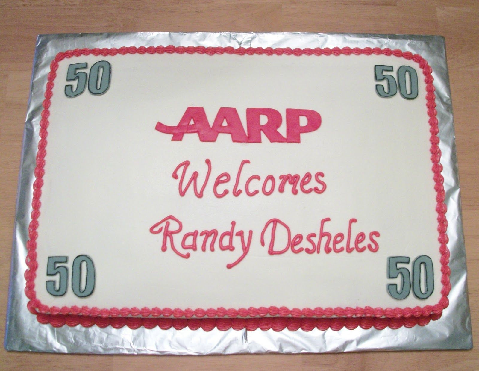 AARP welcome to 50 cake 50th Birthday Party Favors and Ideas