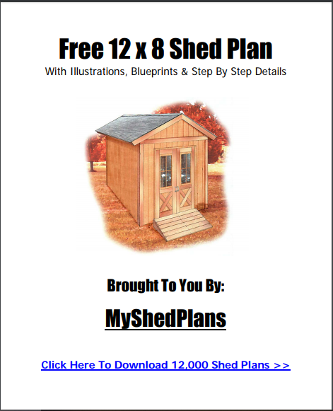 Build Your Own Shed Shed Plans 12x8 Shed Diy Shed Plans
