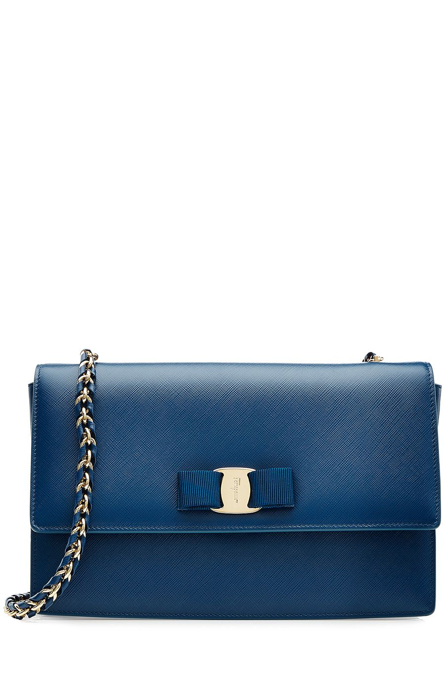 f272018b89c3 The color is mesmerizing. Ginny Medium Leather Shoulder Bag by Salvatore  Ferragamo -  626 (30% off).  SalvatoreFerragamo  GiftMode  BlueClutch