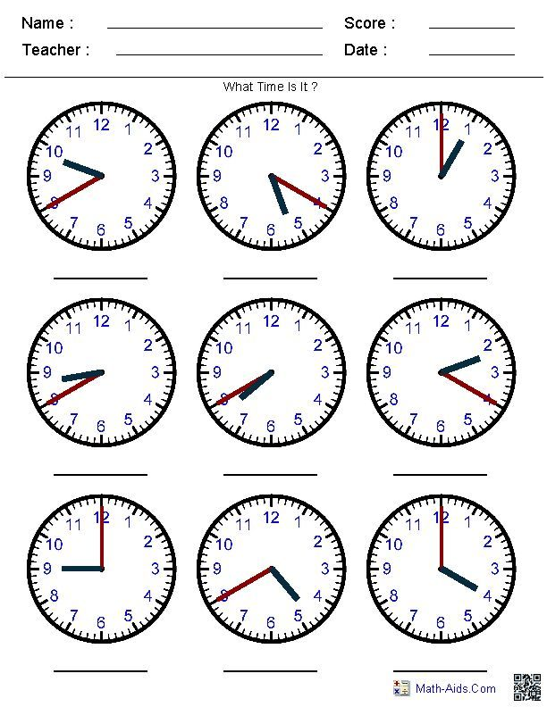 pre k clocks worksheets | Generate Random Clock Worksheets for Pre ...