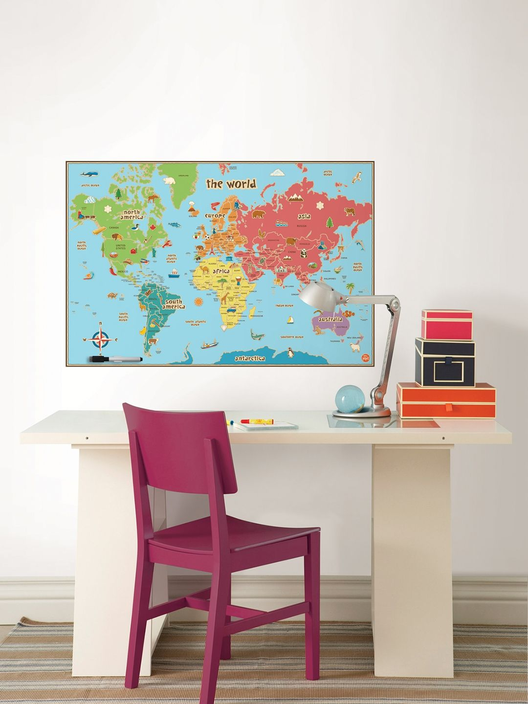 Kids Dry Erase World Map Decal By Wallpops At Gilt World Map