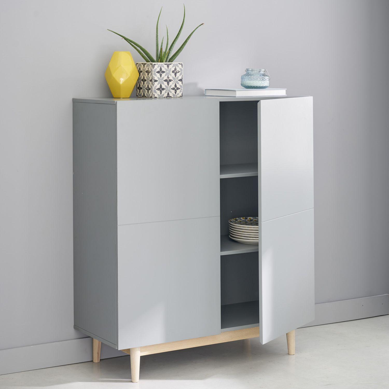 Schrank mit 2 Türen, grau Graue schränke, Küchenschrank