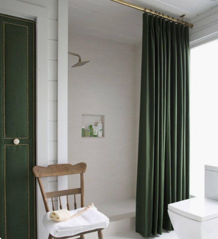 Velvet Shower Curtain Green Velvet shower curtain Navy Velvet shower ...