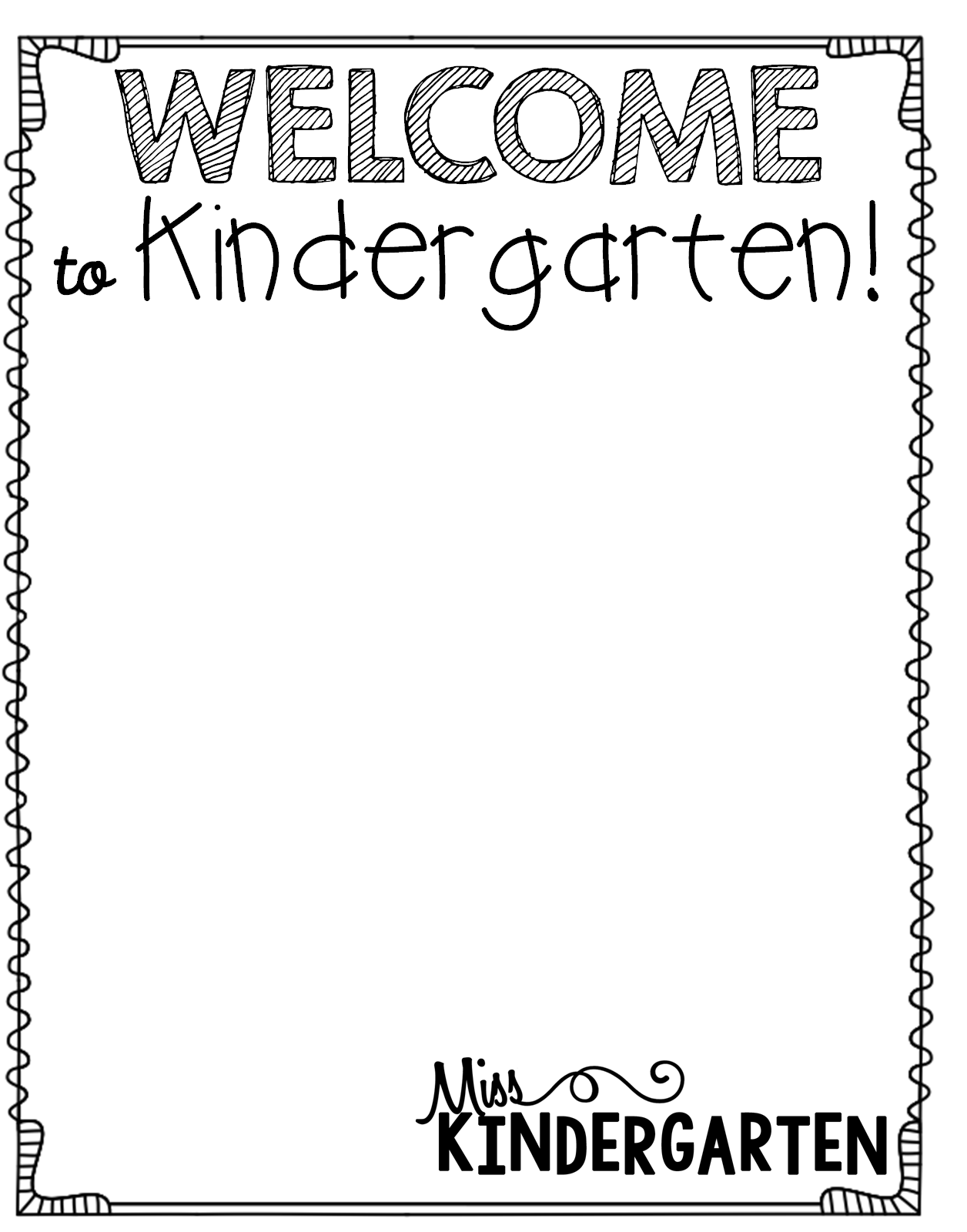 Getting Organized New Student Bags Welcome To Kindergarten Letter Download An Editable