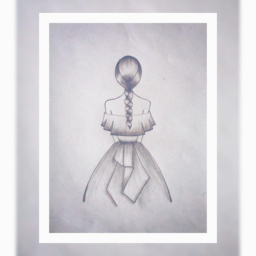Lbart Dibujo On Instagram Senorita Con Vestido Reto Sombreado Dibujosalapiz Dibujoamano Arte Art Humanoid Sketch
