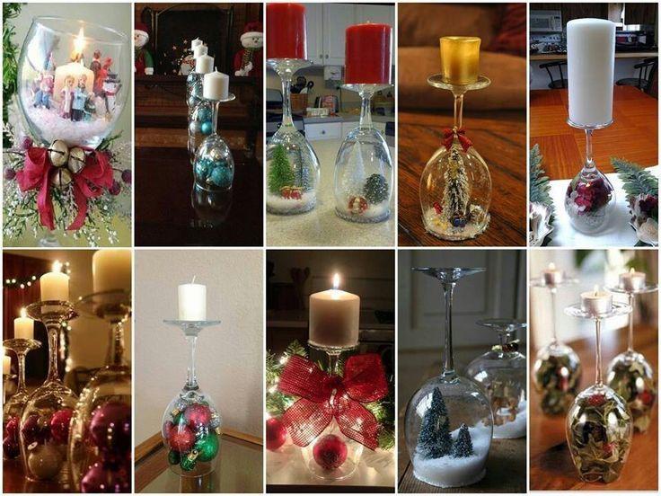 Wine Glass Centerpieces Christmas Glass Wine Centerpieces Christmas Table Decorations Christmas Table Settings Wine Glass Snow Globe